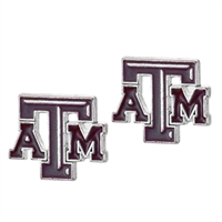 College Fashion Texas A&M University Logo Charms Stud Elise Earrings