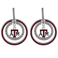 TEXAS A&M 441 | Double Circular Logo Earrings