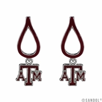Texas A&M Aggies College TX Silver Jewelry Earrings