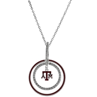 TEXAS A&M 657 | Double Circle Logo Necklace