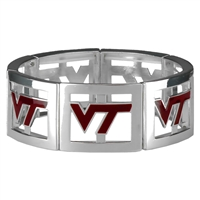 Square Stretch Hokies Silver Jewelry