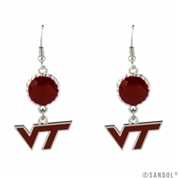 Virginia Tech Bubble Dangle Earrings