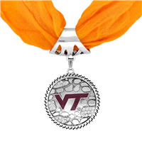 College Fashion Virginia Tech University Crystals Ornate Scarf Pendant Charm