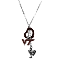 Virginia Tech Silver Multi Logo Necklace Licensed College Jewelry