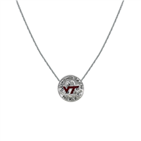 Neunice Virginia Tech Circle Script Necklace