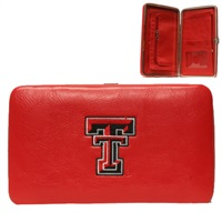 Texas Tech Red Clutch Wallet Case TT