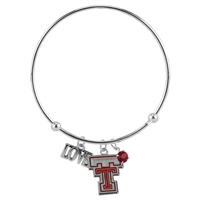 Coil Love Silver Charm Bracelet Red Raiders Bangle Silver Jewelry