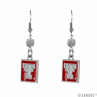 Square Dangle Earrings Texas Tech Red Raiders
