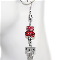 Beaded Dangle Earrings Texas Tech Rowdy Raiders