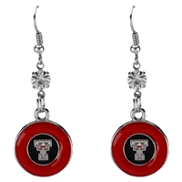 Silver Red Raiders Earrings