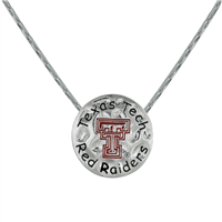 Neunice Texas Tech Circle Script Necklace