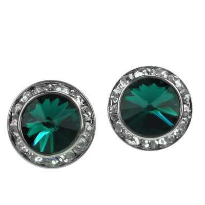 EMERALD CRYSTAL EARRINGS