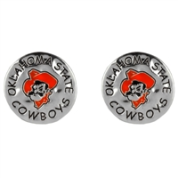 Oklahoma State Circular Script Earrings | Eunice