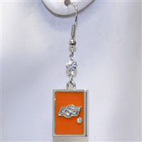 Square Dangle Earrings Oklahoma State Cowboys