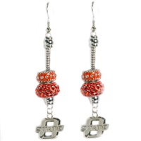 Beaded Dangle Earrings Oklahoma State Cowboys