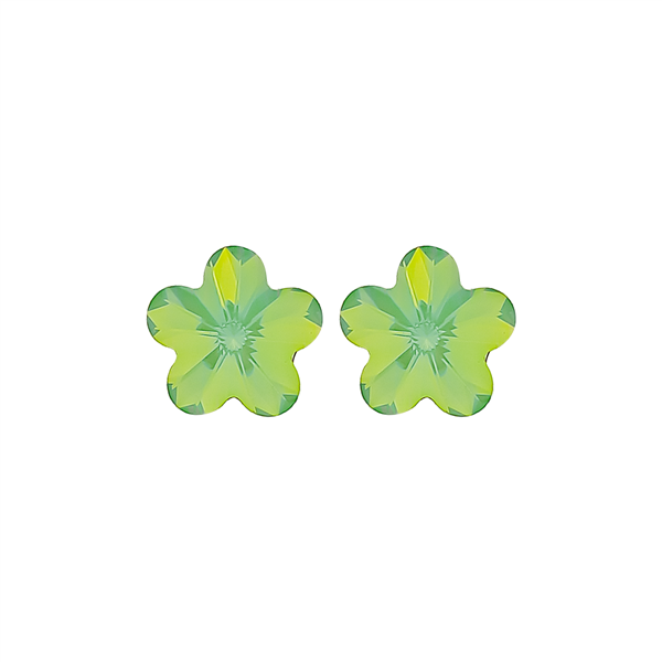 "3/8"" Green Clover Earrings"