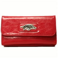 Lizzie Tri-Fold Wallet Arkansas Razorbacks