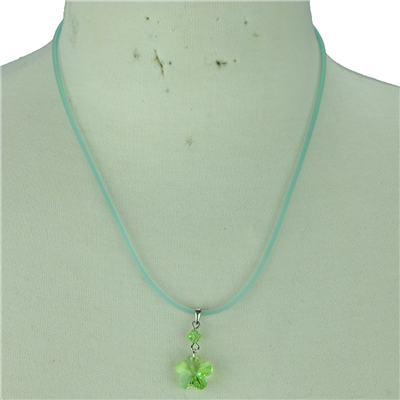 CRYSTAL FLOWER NECKLACE | GREEN