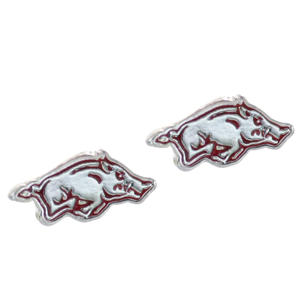 College Fashion University of Arkansas Logo Charms Stud Elise Earrings