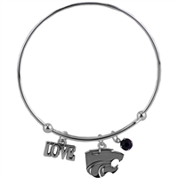 Coil Love Silver Charm Bracelet KSU Bangle Silver Jewelry