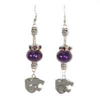 Homecoming Pride Earrings | Kansas State