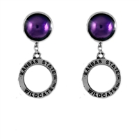 Circular Dangle Earrings | Kansas State