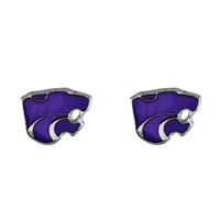 Kansas St Post Logo Earrings