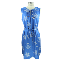 Blue & White Sea Turtle Dress