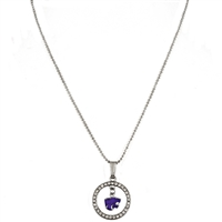 Studded Hoop & Dangle Logo | Kansas State