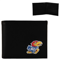 Kansas Men's Bi-Fold Wallet Jayhawk Billfold