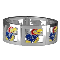 Square Stretch Jayhawks Silver Jewelry