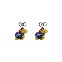 University of Kansas Evie Mascot Stud Earrings