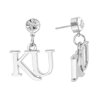 KANSAS 407 | Dangle Logo Charm Earrings
