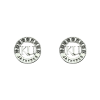 KANSAS 413 | Silver Studded Circle Earrings