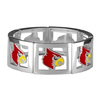 Square Stretch Razorbacks Silver Jewelry
