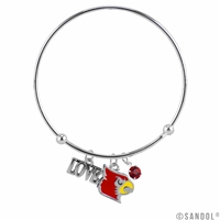 Coil Love Silver Charm Bracelet U of L Bangle Silver Jewelry