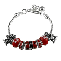 U of L Cardinals Bead Bracelet Jewelry Mascot