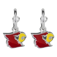 Dangle Logo Earrings Silver College The Ville