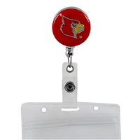 College Fashion University of Louisville Retractable ID Larry Lanyard Badge Reel