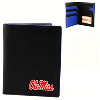 Mississippi Ole Miss Hipster Wallet Bi-Fold Black Bear Billfold