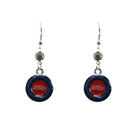 Silver Ole Miss Earrings