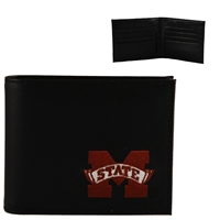 Mississippi State Men's Bi-fold Wallet Bulldog Billfold