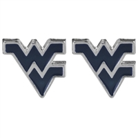 College Fashion West Virginia University Logo Charms Stud Elise Earrings