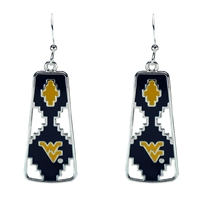 West Virginia Aztec Print Earrings | Elaine