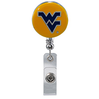 College Fashion West Virginia University Retractable ID Lindy Lanyard Badge Reel