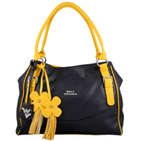 The Jet Set Handbag Purse West Virginia Mountaineers