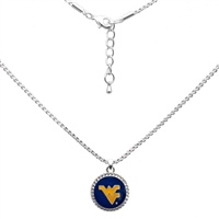 College Fashion West Virginia University Logo Charm Nessa Necklace