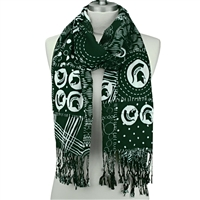 Mixed Print Scarf | Michigan State