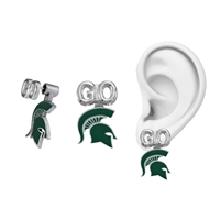 Michigan State Spartans Evie Mascot Stud Earrings