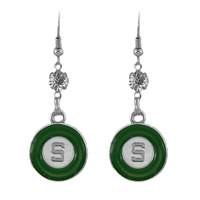 Eunice Circular Script Earrings Michigan State University